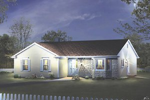 Ranch Exterior - Front Elevation Plan #57-421