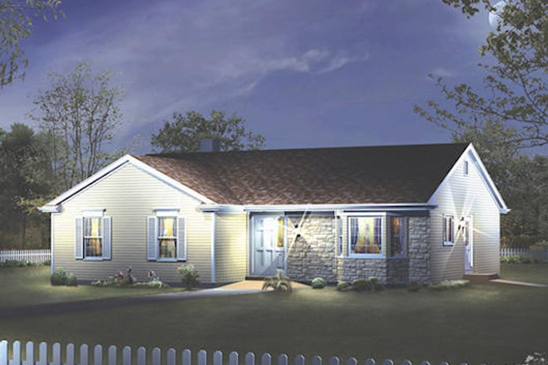 Ranch Style House Plan - 3 Beds 2 Baths 1610 Sq/Ft Plan #57-421