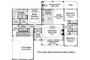 Country Style House Plan - 3 Beds 2.5 Baths 2000 Sq/Ft Plan #21-197 Floor Plan - Other Floor
