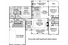 Country Floor Plan - Other Floor Plan Plan #21-197