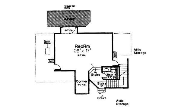 European Floor Plan - Other Floor Plan Plan #310-680