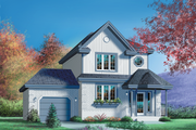 Traditional Style House Plan - 3 Beds 1.5 Baths 1216 Sq/Ft Plan #25-2107 Exterior - Front Elevation