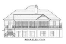 Architectural House Design - Country Exterior - Rear Elevation Plan #1054-34