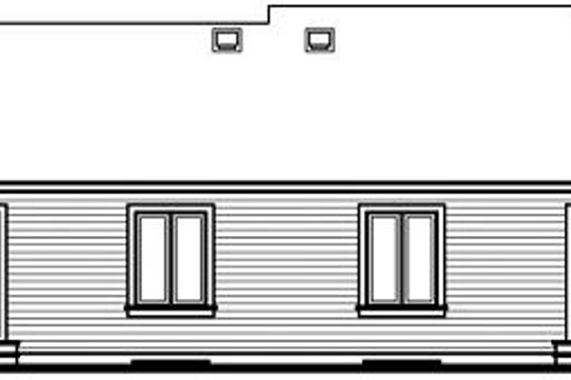 European Exterior - Rear Elevation Plan #23-680 - Houseplans.com