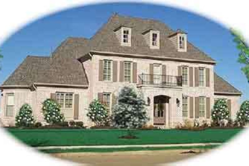 European Style House Plan - 3 Beds 4.5 Baths 3818 Sq/Ft Plan #81-611 Exterior - Front Elevation