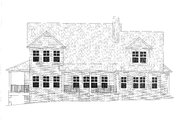 Craftsman Style House Plan - 4 Beds 2.5 Baths 2773 Sq/Ft Plan #437-119 Exterior - Rear Elevation