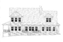 Craftsman Exterior - Rear Elevation Plan #437-119