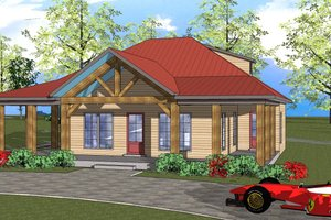 Southern Exterior - Front Elevation Plan #8-309