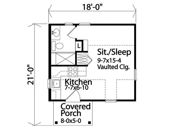 Dream House Plan - Cottage Floor Plan - Main Floor Plan #22-593
