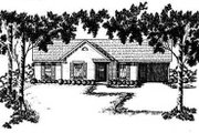 Ranch Style House Plan - 3 Beds 1.5 Baths 1052 Sq/Ft Plan #36-101 Exterior - Front Elevation