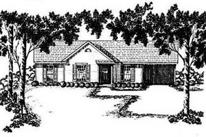 Ranch Exterior - Front Elevation Plan #36-101