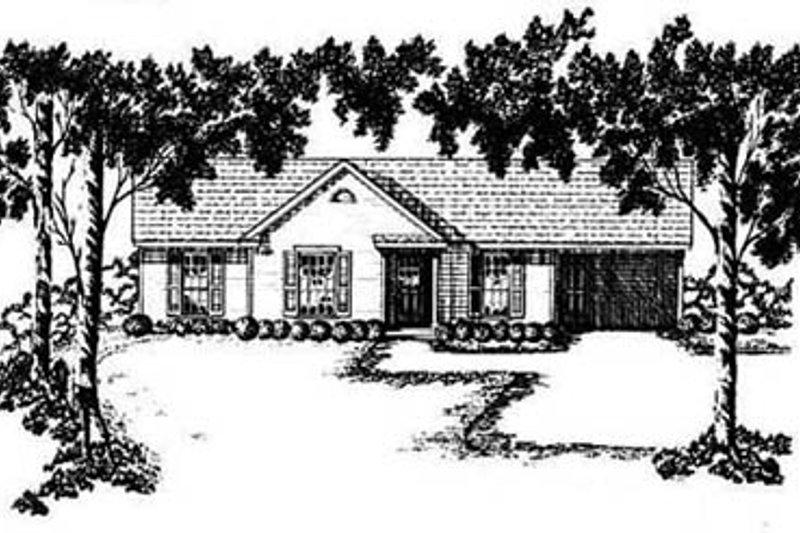 Ranch Exterior - Front Elevation Plan #36-101 - Houseplans.com