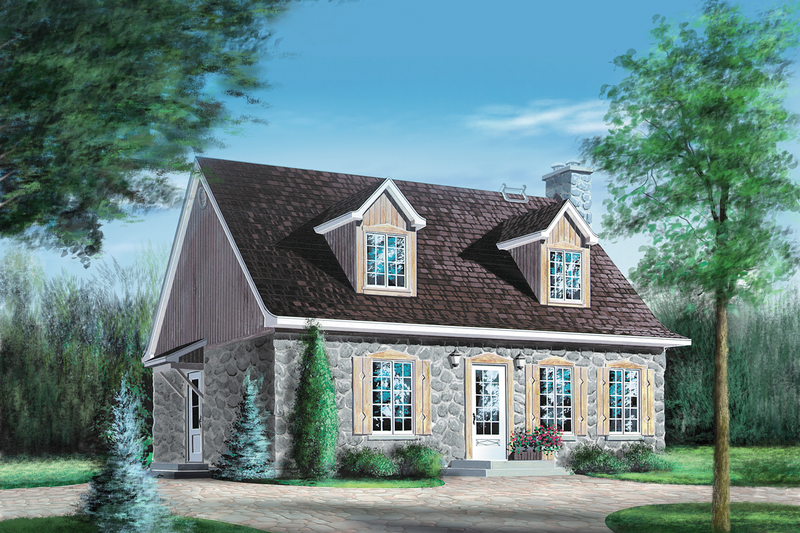 Cottage Style House Plan - 4 Beds 2 Baths 1764 Sq/Ft Plan #25-4249 Exterior - Front Elevation