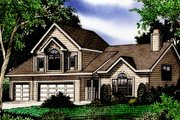 Farmhouse Style House Plan - 3 Beds 2 Baths 2649 Sq/Ft Plan #405-196 Exterior - Front Elevation