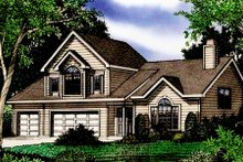 Home Plan - Farmhouse Exterior - Front Elevation Plan #405-196