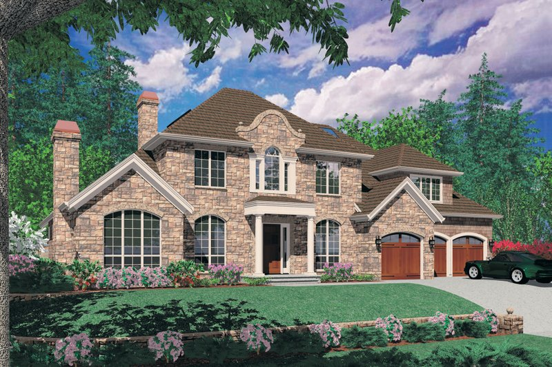 Home Plan - European Exterior - Front Elevation Plan #48-618