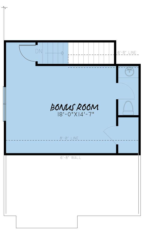 Farmhouse Floor Plan - Upper Floor Plan #923-151