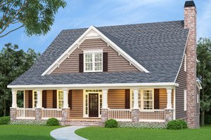 House Design - Craftsman Exterior - Front Elevation Plan #419-131