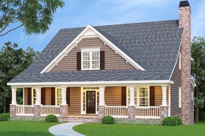 Dream House Plan - Craftsman Exterior - Front Elevation Plan #419-131
