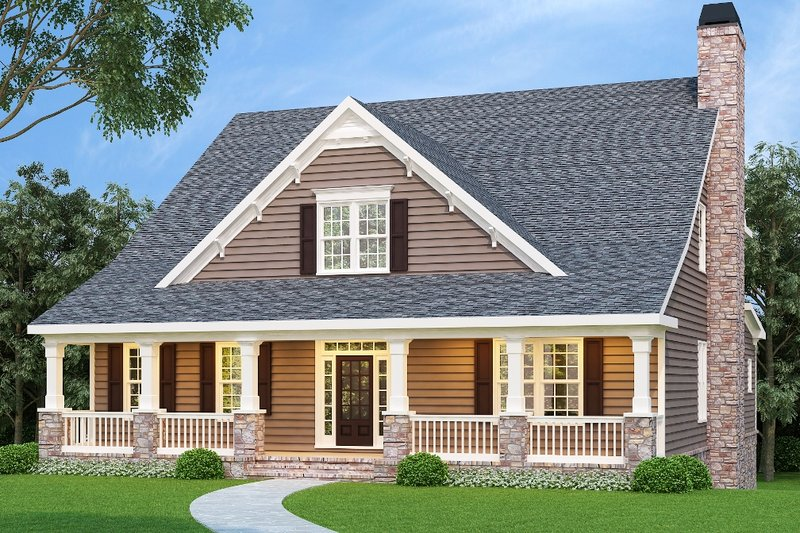 Craftsman Exterior - Front Elevation Plan #419-131