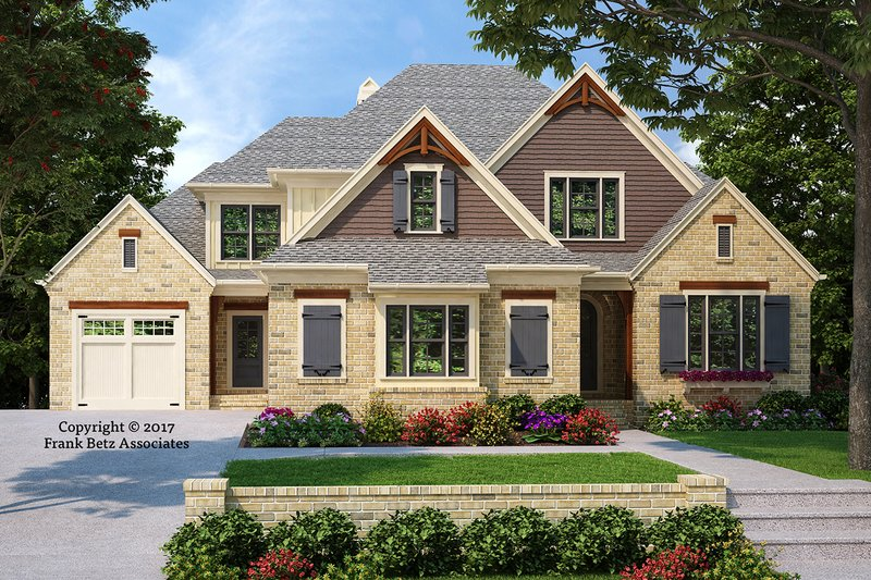 Architectural House Design - Craftsman Exterior - Front Elevation Plan #927-991