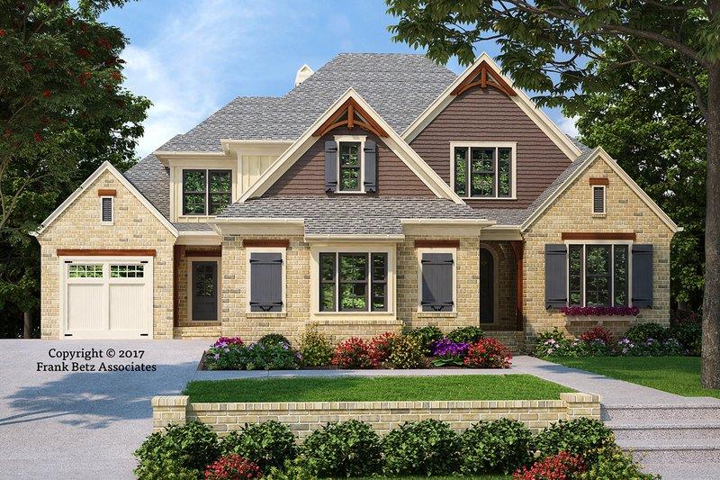 Craftsman Style House Plan - 4 Beds 4 Baths 3080 Sq/Ft Plan #927-991