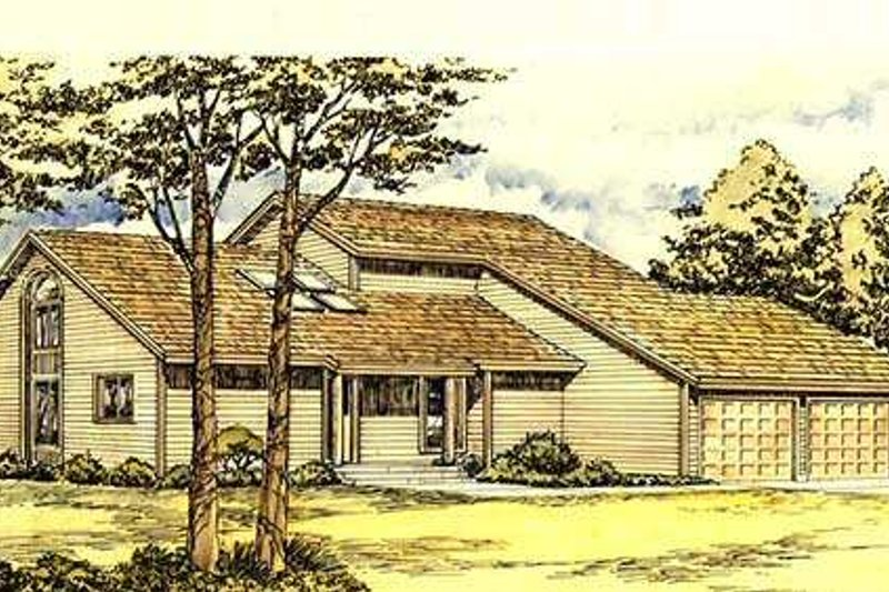 Traditional Exterior - Front Elevation Plan #320-150 - Houseplans.com
