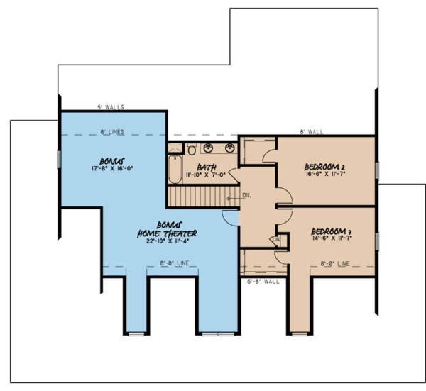 Farmhouse Floor Plan - Upper Floor Plan Plan #923-109