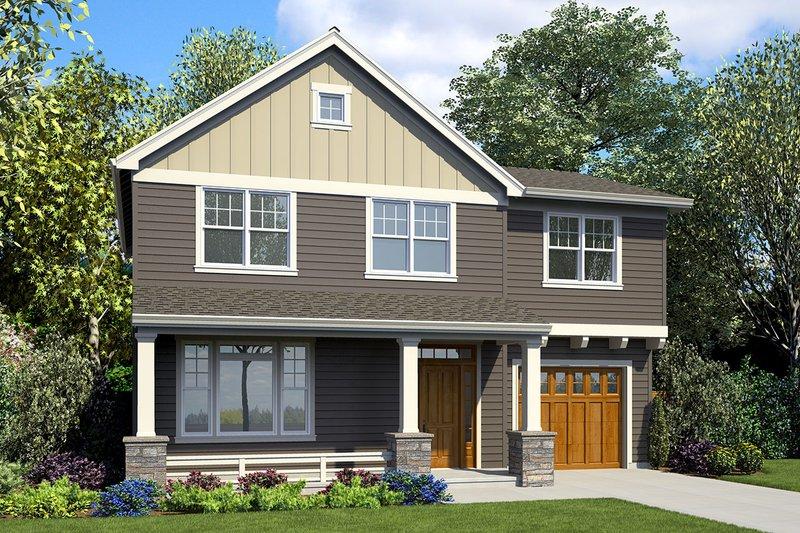 Craftsman Exterior - Front Elevation Plan #48-930