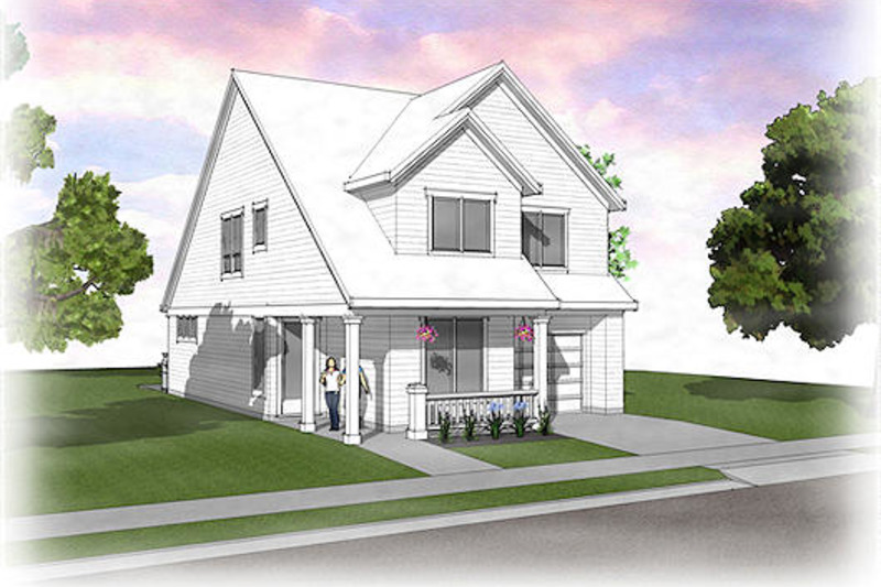 Traditional Exterior - Front Elevation Plan #48-484 - Houseplans.com