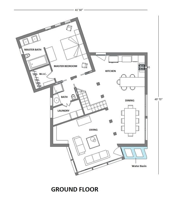 Architectural House Design - Modern Floor Plan - Main Floor Plan #542-3