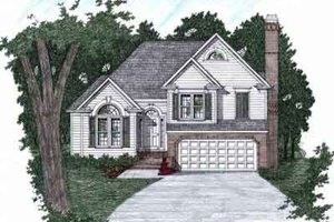 Architectural House Design - Traditional Exterior - Front Elevation Plan #129-143
