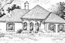 European Exterior - Front Elevation Plan #45-286