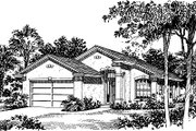 Modern Style House Plan - 3 Beds 2 Baths 1118 Sq/Ft Plan #417-104 Exterior - Front Elevation