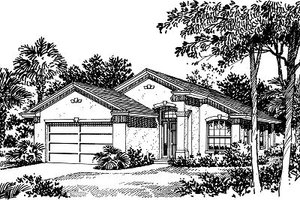 Modern Exterior - Front Elevation Plan #417-104
