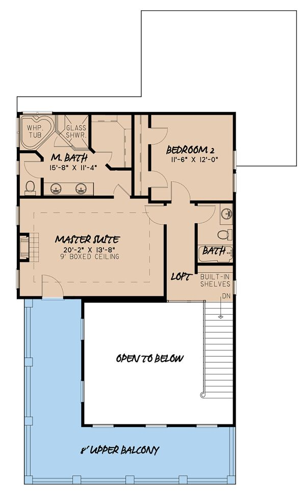 Country Floor Plan - Upper Floor Plan Plan #923-143
