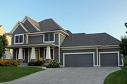 Craftsman Style House Plan - 3 Beds 2.5 Baths 2603 Sq/Ft Plan #51-494 Exterior - Other Elevation
