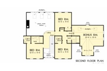 Farmhouse Floor Plan - Upper Floor Plan Plan #929-1039