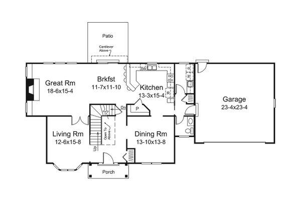 Traditional Floor Plan - Main Floor Plan Plan #57-660