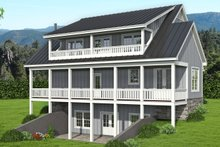 House Plan Design - Traditional Exterior - Rear Elevation Plan #932-333