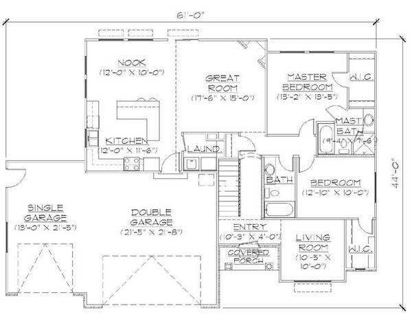 Ranch Floor Plan - Main Floor Plan Plan #5-232