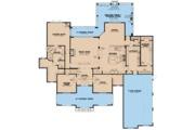 European Style House Plan - 4 Beds 4.5 Baths 6001 Sq/Ft Plan #923-78 Floor Plan - Main Floor Plan