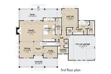 Farmhouse Floor Plan - Main Floor Plan Plan #120-272