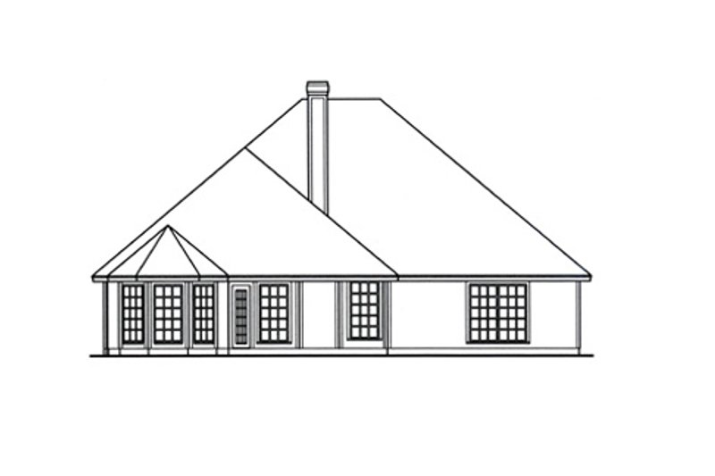 Traditional Exterior - Rear Elevation Plan #42-389 - Houseplans.com