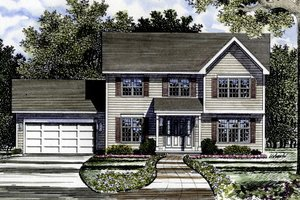 Country Exterior - Front Elevation Plan #316-102