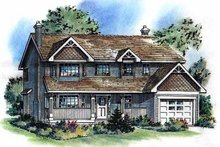 House Blueprint - Traditional Exterior - Front Elevation Plan #18-263