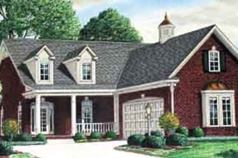 Colonial Exterior - Front Elevation Plan #34-197