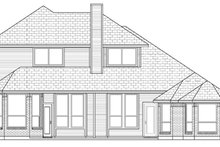 House Design - Traditional Exterior - Rear Elevation Plan #84-502