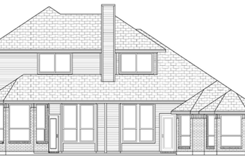 Traditional Exterior - Rear Elevation Plan #84-502 - Houseplans.com