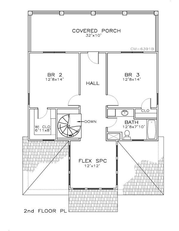 Beach Floor Plan - Upper Floor Plan Plan #8-311